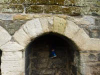 Jeremy in a toilet at the castlle