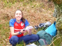 Fiona excited for some delicious orienteering
